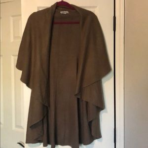 Tan throw sweater